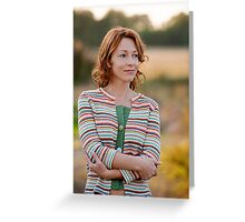 Woman in nature Greeting Card