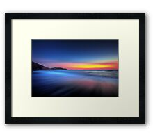 Twilight Waves Framed Print