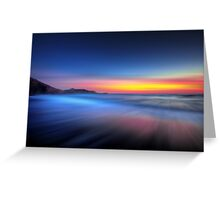 Twilight Waves Greeting Card