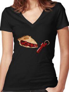 Pie Key Women's Fitted V-Neck T-Shirt