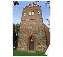 MVP112 Pütte Village church, near Stralsund, Germany. Poster
