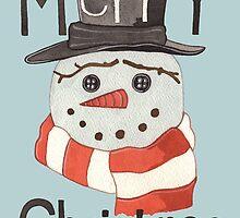'Snowman with a Scarf' by Valena Lova