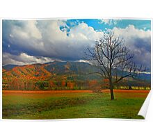 CLEARING STORM,CADES COVE Poster