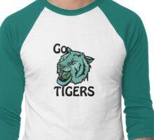 Go Tigers Blue Men's Baseball ¾ T-Shirt
