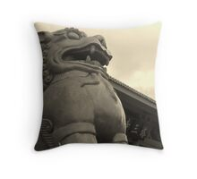 Dali fu dog Throw Pillow