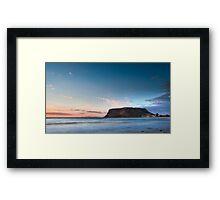 Sunrise at The Nut, Stanley, Tasmania Framed Print