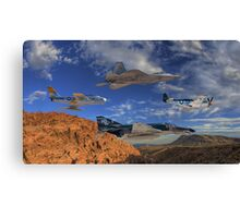 Four Generations of U.S. Air Force Fighter Aircraft Canvas Print