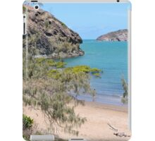 Island in the bay with trees and beach iPad Case/Skin