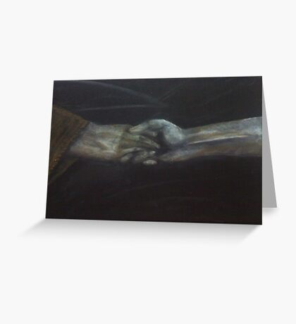 Hand to hold Greeting Card