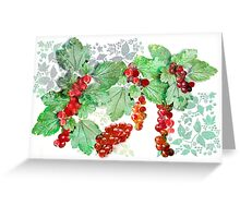 British Wild Redcurrants Greeting Card