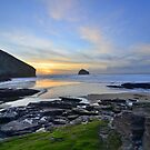 Cornwall: November Sunset at the Strand by Rob Parsons