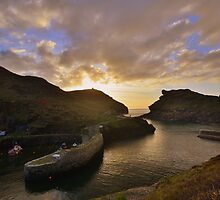 Cornwall: Last Light at Boscastle Harbour by Rob Parsons