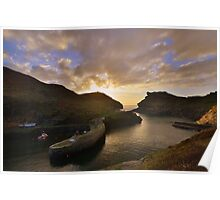 Cornwall: Last Light at Boscastle Harbour Poster