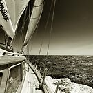 Windy day in the Ionian sea by benjy