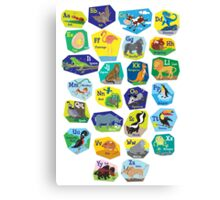 Alphabet for Children Canvas Print