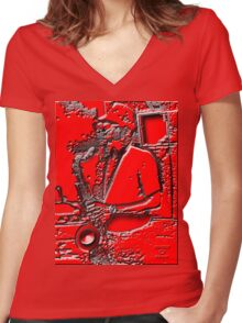 HOT JAZZ Women's Fitted V-Neck T-Shirt