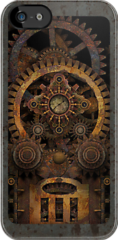 Infernal Steampunk Machine #2 iPhone / iPod case by Steve Crompton