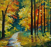 AUTUMN SUN - LEONID AFREMOV by Leonid  Afremov