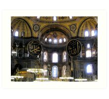 Interior View Of Aya Sofya Art Print