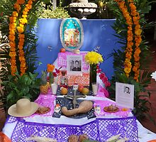 Another altar in a little hotel in Puerto Vallarta - All Souls' day by Bernhard Matejka