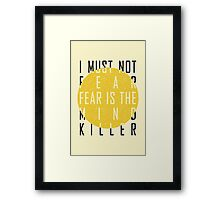 Dune - The Litany Against Fear Framed Print