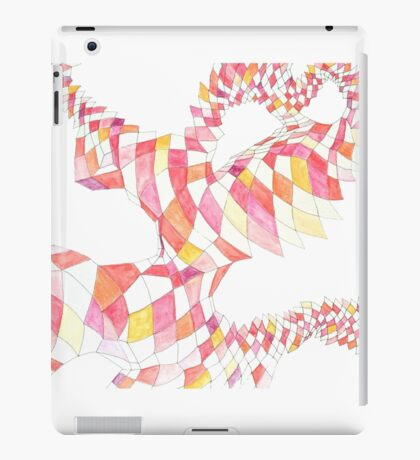 Geometric landscape red drawing iPad Case/Skin