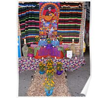 Altar for the dead persons at the principal market in Puerto Vallarta Poster
