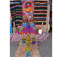 Altar for the dead persons at the principal market in Puerto Vallarta Photographic Print