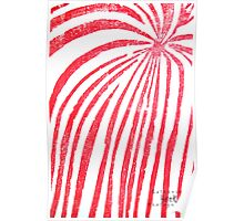 Red Stripped Lady- Printmaking Poster