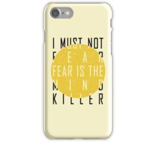 Dune - The Litany Against Fear iPhone Case/Skin