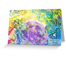 Colorful Gesso 1 Greeting Card