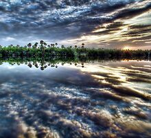 Saint Lucie River Sunrise by Noble Upchurch