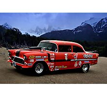 """1955 Chevrolet Pro Street Dragster - """"Chigger"""" Photographic Print"""