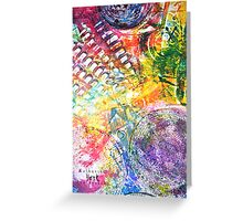 Colorful Gesso 3 Greeting Card