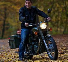 Jakub as a easy driver . Tribute to Royal Enfield  Model Bullet 350cc . pozdrowienia by Brown Sugar . Views (260) dziękuję ! by © Andrzej Goszcz,M.D. Ph.D