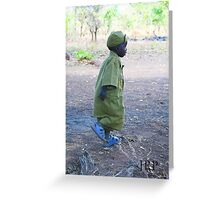 Little boy running with joy! Greeting Card