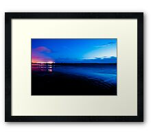 Ardrossan by Night Framed Print