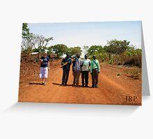 Singing along the orange dirt road Greeting Card