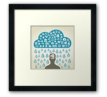 Person business3 Framed Print