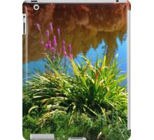 Flowers at the pond iPad Case/Skin