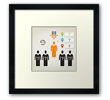 Person business4 Framed Print