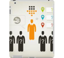 Person business4 iPad Case/Skin