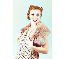 Vintage dressed woman Photographic Print