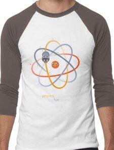 The physics is theoretical... Men's Baseball ¾ T-Shirt