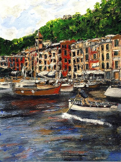 Portofino Late October by Randy Sprout