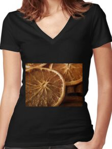 A Hint Of Spice Women's Fitted V-Neck T-Shirt