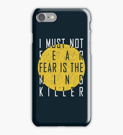 Dune - The Litany Against Fear (White) iPhone Case/Skin