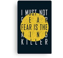 Dune - The Litany Against Fear (White) Canvas Print
