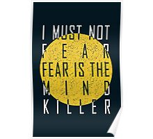The Litany Against Fear (White) Poster