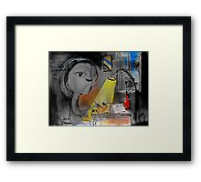 he drew because his life depended upon it Framed Print